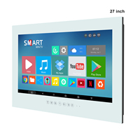 Haocrown 27 Inch Bathroom TV White, IP66 Waterproof Television With Smart Android 10.0 Full HD 1080P Built-in Wi-Fi Bluetooth 1