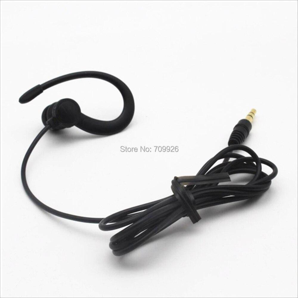 3.5mm Single Side Earphone In-ear Mono Earbuds Wired Headphones Black 1 Pc//2 Pcs