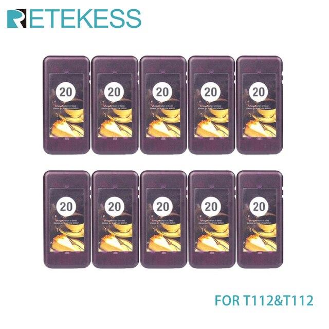 10 قطعة أجهزة الاستقبال بيجر ل Retekess T111/T112 مطعم بيجر نظام اتصال لاسلكي ل شاحن باور بنك للمقاهي والمطاعم الكنيسة عيادة