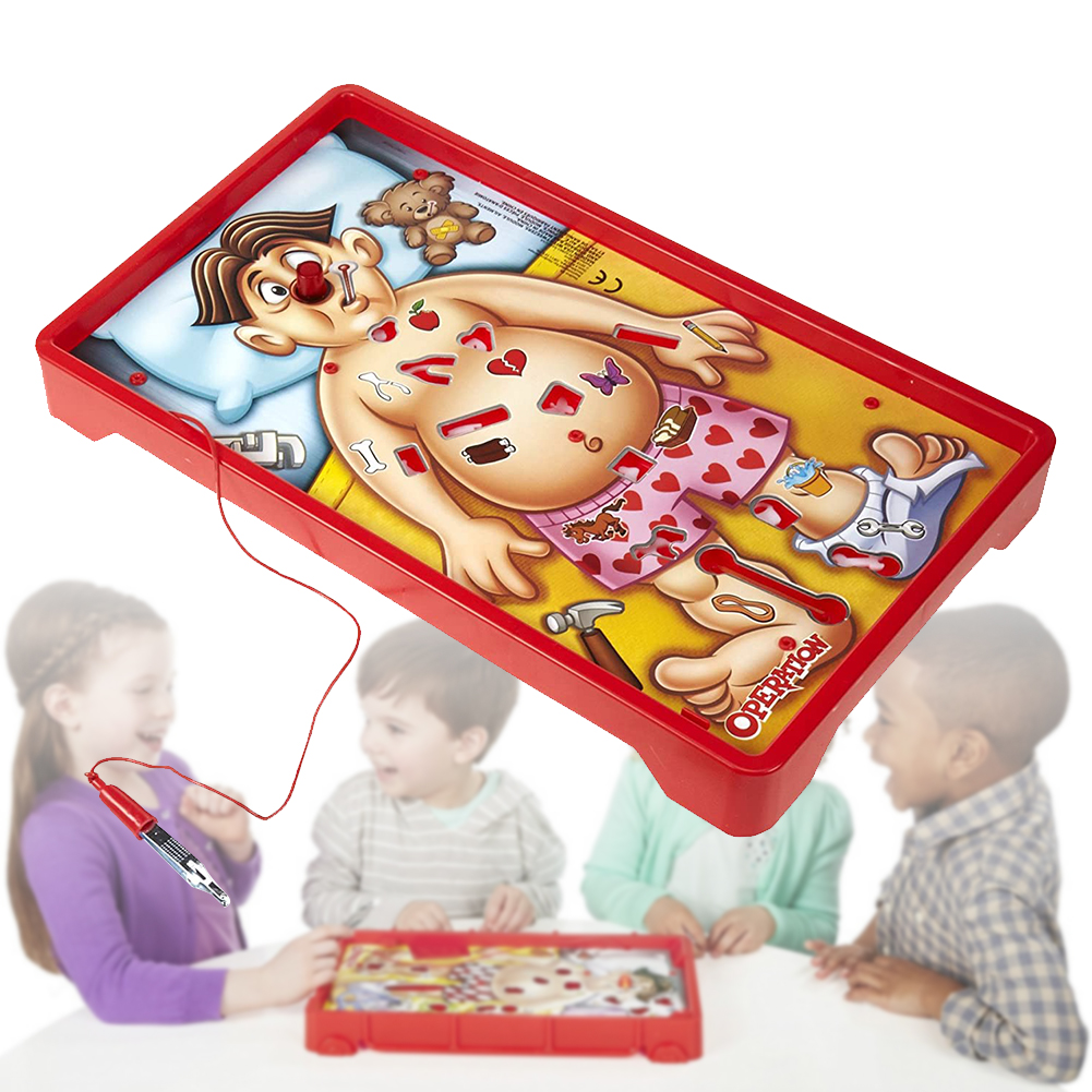 Funny Interactive Toy Doctor Pretend Operation Game Children Education Board Table Entertainment Family Party With Sound Plastic
