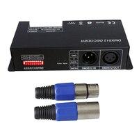 4CH DC12 24V RGBW DMX 512 Decoder LED Controller  RGB LED DMX512 Decoder 4 Channel x 8A for LED Strip Light|Voice Recognition/Control Modules| |  -