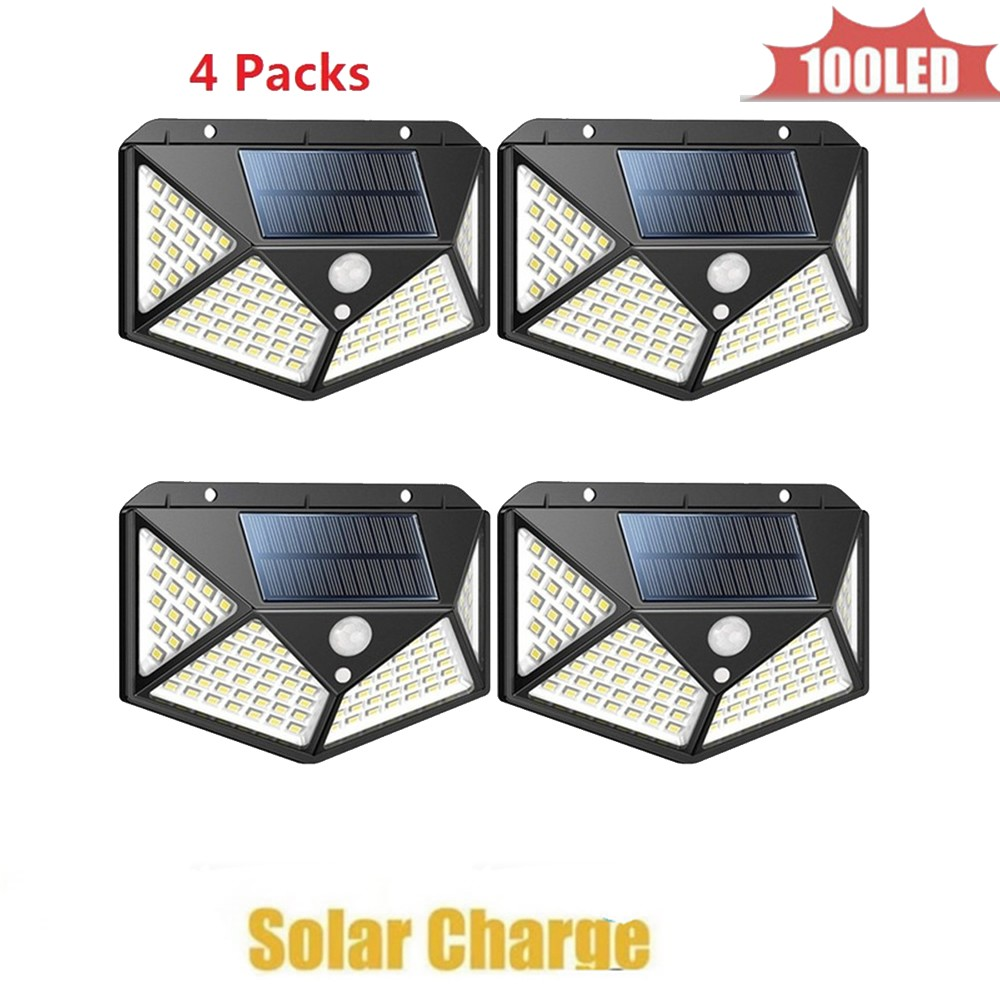 Led Solar Light Power Garden Lamp Solar Lighting 100 Led Warm White Pole PIR Motion Sensor Waterproof For Outdoor,street,wall,ya