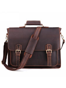 JOYIR Briefcase Laptop-Bag Messenger Business Crazy-Horse Vintage Genuine-Leather Men's