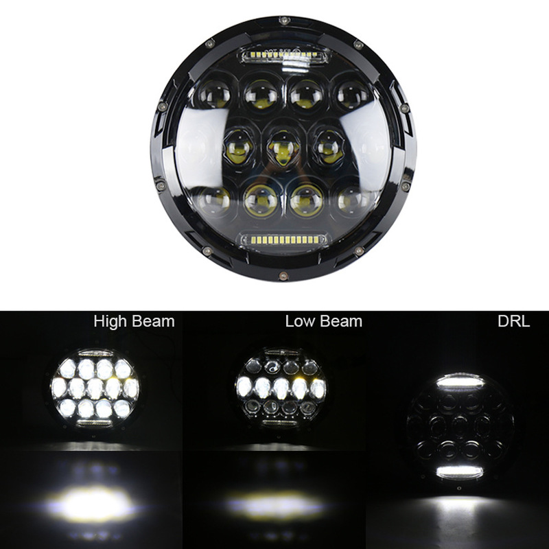 Manufacturers Selling 7 Inch Jeep Wrangler Light Off-road Modification LED Lamp Belt And Light Car Lights
