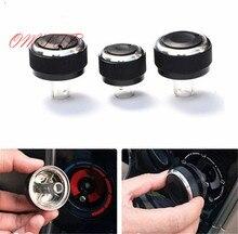 3pcs Aluminium Heater Air Con Dash Conditioning AC Knobs Control Buttons for volkswagen VW Passat B5 GOLF 4 Bora car styling