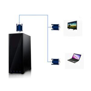 Image 4 - مطلية بالذهب 1080P VGA ذكر إلى أنثى مهائي كابلات خواتم مزدوجة المغناطيسي VGA أنثى رصد Y الخائن محول الكابل