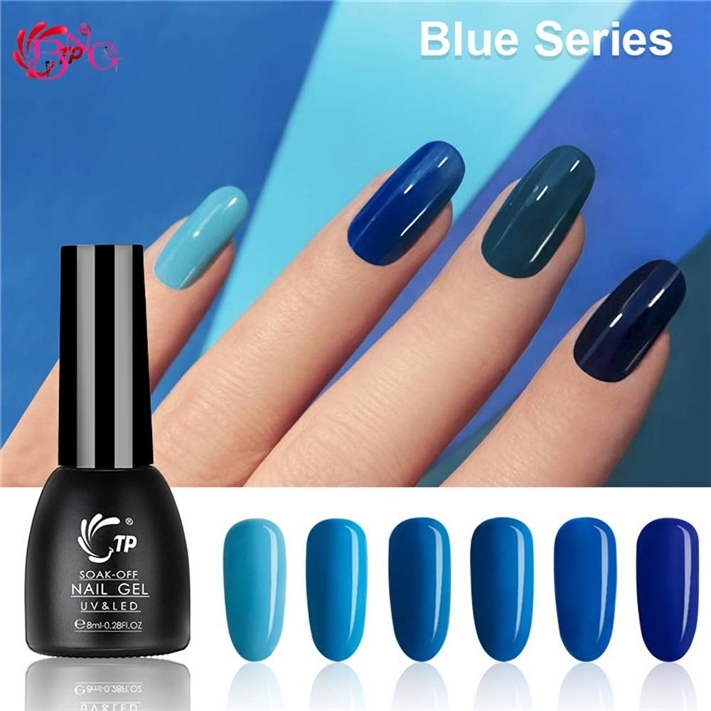Bng 8ml 0 28oz Nail Uv Gel Polish Cool Blue Color Series Gel Polish Uv Nail Gel Lacquer Varnish For Manicure Nail Art Design Nail Gel Aliexpress