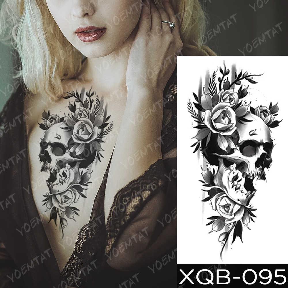 Wodoodporna tymczasowa naklejka tatuaż las księżyc latający ptak niedźwiedź Flash tatuaże Leopard wilk tygrys tatuaże do ciała Arm sztuczny tatuaż mężczyzn