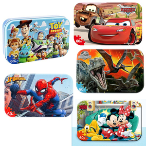 Hot Marvel Avengers Spiderman Car Disney Puzzle Toy Children Wooden Jigsaw Puzzles Kids Educational Toys for Children Gift(China)