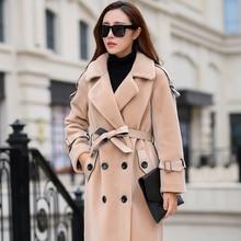 Real Fur Coat Women Clothes 2020 Long Winter Jacket Sheep Sh