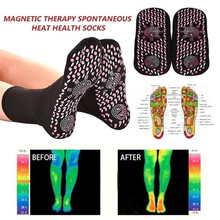 2Pairs Tourmaline Self Heating Heated Socks for Women Mem Help Warm Cold Feet Comfort Health Heated Socks Magnetic Therapy heating pads cold weather heated socks usb lithium battery cotton material leg warmers carbon fiber electric heated health care