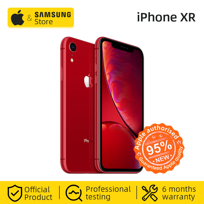 "Original Unlocked Apple IPhone XR Smartphone 4G LTE 6.1"" Hexa-core 12MP&7MP 64GB/128GB ROM IOS 4G Lte Apple Mobile Phone IP67"