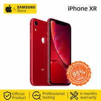 "Original desbloqueado Apple iPhone XR Smartphone 4G LTE 6,1 ""Hexa-core 12MP y 7MP 64GB/128GB ROM IOS 4G Lte teléfono móvil Apple IP67"
