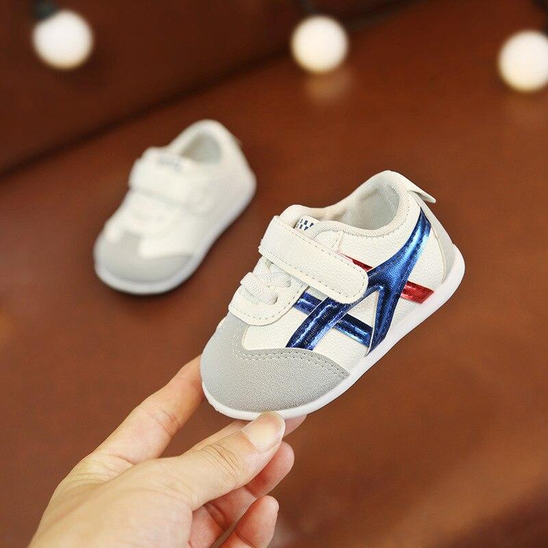 0 à 18 mois bébé garçons et filles chaussures enfant en bas âge chaussures de sport nouveau-né fond souple première marche chaussures de mode antidérapantes 3