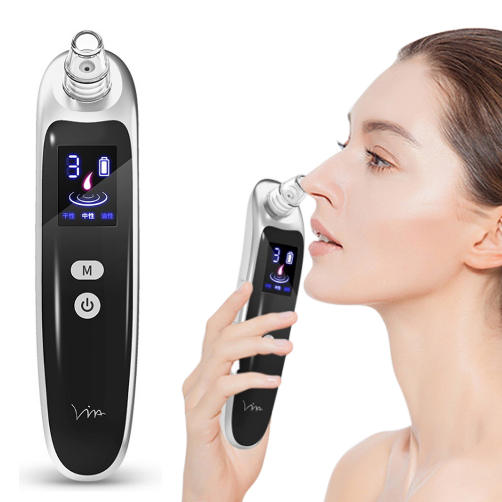 6 Suction Face Nose Blackhead Remover  Black Dot Deep Pore Vacuum Suction Pore Cleaner Pimple Acne Removal Tool