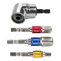 O adaptador do soquete da extensão do conjunto do bocado do motorista das brocas de impacto encanta a haste  broca do ângulo direito de 105 graus  screwnlder da extensão do motorista adapta se|Acessórios para ferramenta elétrica| |  -