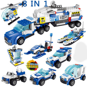 Image 2 - City Police Station SWAT Building Blocks Car Helicopter House Truck Creative Bricks Toys For Children Boys