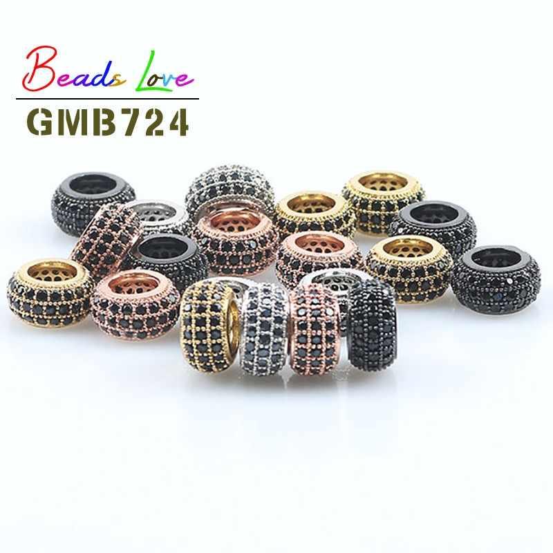 100pcs BRASS Cube Beads Jewelry Making Loose Spacers Buddha Bracelets DIY Charm
