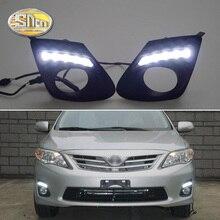 SNCN 2 adet LED gündüz farı Toyota Corolla 2011 2012 2013 için süper parlaklık 12V araba LED DRL su geçirmez ABS günışığı ampul