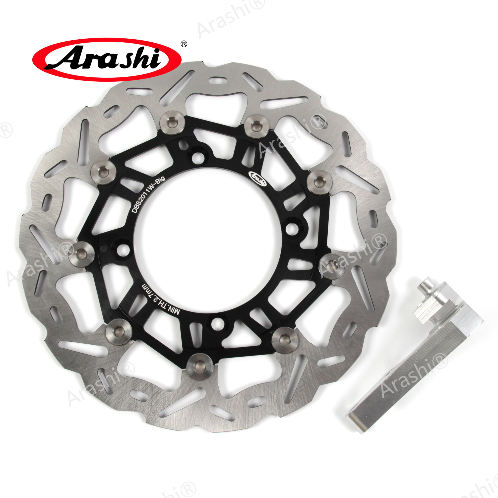 Arashi 1PCS For KAWASAKI KX125 KX250 2006 2007 2008 CNC Floating Front Brake Disc Brake Rotors Motorcycle <font><b>Parts</b></font> <font><b>KX</b></font> <font><b>125</b></font> <font><b>KX</b></font> 250 image