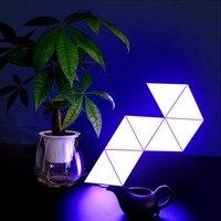 Luz de empalme mágica triangular, lámpara de pared LED Modular con Control remoto, aplicación inteligente o Control de música