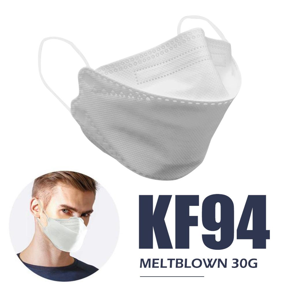 20psc KF94 Face Mask 94% Filtration 4-Layer Protective Face Mask Mouth Face Mask Protection Against Droplet Dust