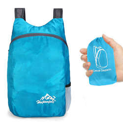 20L Durable Nylon Folding Backpack Unisex Lightweight Outdoor Travel Hiking Backpack Portable Camping Daypack