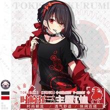 Anime DATE A LIVE Tokisaki Kurumi Cosplay T shirt Fashion Summer Short Sleeve Tops Unisex Tee 2 Color