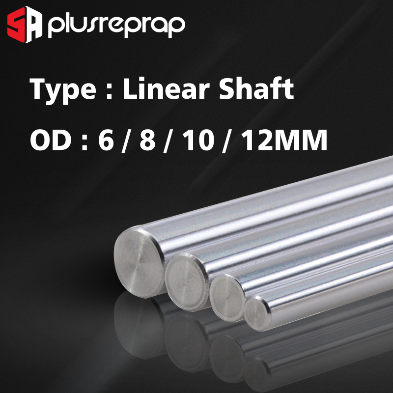 Liner Rail OD 6/8/10/12mm Linear Shaft Lenght 200 250 300 320 339 350 370 400 <font><b>500</b></font> mm for <font><b>3D</b></font> <font><b>Printer</b></font> X Y Z axis CNC Parts image
