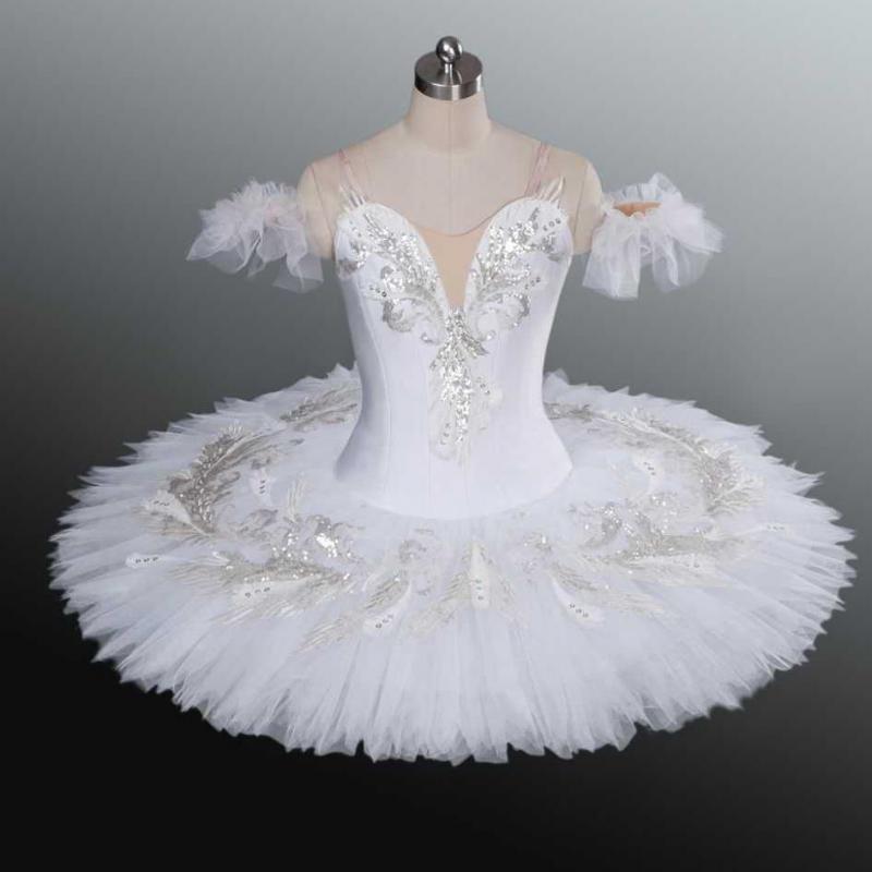 Tutú de Ballet profesional White Swan Lake para niños, niños, adultos, mujeres, bailarina, trajes para baile y Ballet Tutu Balett Dress Girl