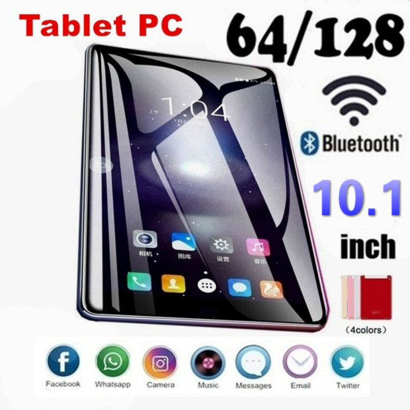 2020 NEW Android Smart 10.1 Inch 6G+128GB WiFi Tablet PC Dual SIM Dual Camera Rear Bluetooth 4G Call Phone Tablet 1280 X 800