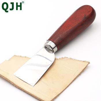 35MM szerokie ostrze skórzane do wycinania ręcznego nóż do skórowania DIY nóż do rękodzieła na narzędzia skórzane rzemieślnicze ręczne narzędzie do majsterkowania tanie i dobre opinie CN (pochodzenie) RX327 steel+ Wooden 3 5cm 16 8cm Length 1 piece knife