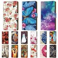 Stand Flip Ledertasche für Xiaomi Mi 10T 10 Ultra Note 10 Lite Brieftasche bemalte PU-Stoßstange Mi 10 Pro Mix 2S 5S Plus A1 5X 10T
