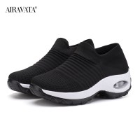 Black3-Women's walking shoes Fashion Casual Sport Shoes Platform Sneakers