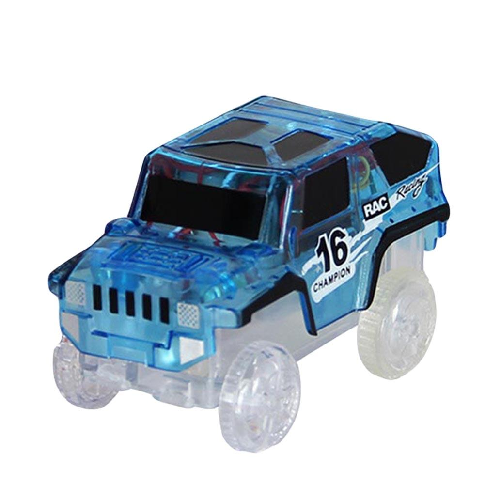 Magical 4LED Electric Rail Car Toy Luminous Light Up Mini Kids Children Gift