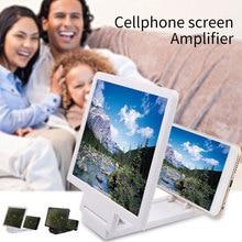 KISSCASE Universal Phone 3D Screen Video Amplifier Magnifying Glass Holder Stand amplificador de pantalla para celular 3д увеличитель для экрана смартфона ampliador telefono увеличительный э...