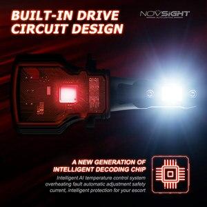 Image 5 - NOVSIGHT Led reflektor samochodowy H1 H3 H4 H7 H11 H8 H9 H13 9005 9006 9007 9003 72W 10000LM 6000K reflektor samochodowy żarówki do lamp przeciwmgielnych