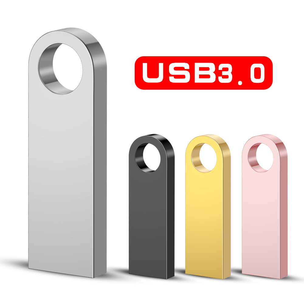 USB 3.0 Pen Drive Metal PenDrive 32GB 16GB 8GB 4GB Key Usb Flash Drive 128GB Cle Usb Stick 64GB Flash Memory Stick Free Gift OTG