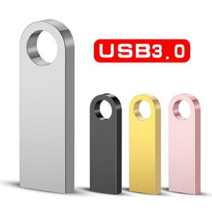 USB 3.0 Pen Drive Metal PenDrive 32GB 16GB 8GB 4GB Key Usb Flash Drive 128GB Cle Usb Stick 64GB Flash Memory Stick Free Gift OTG