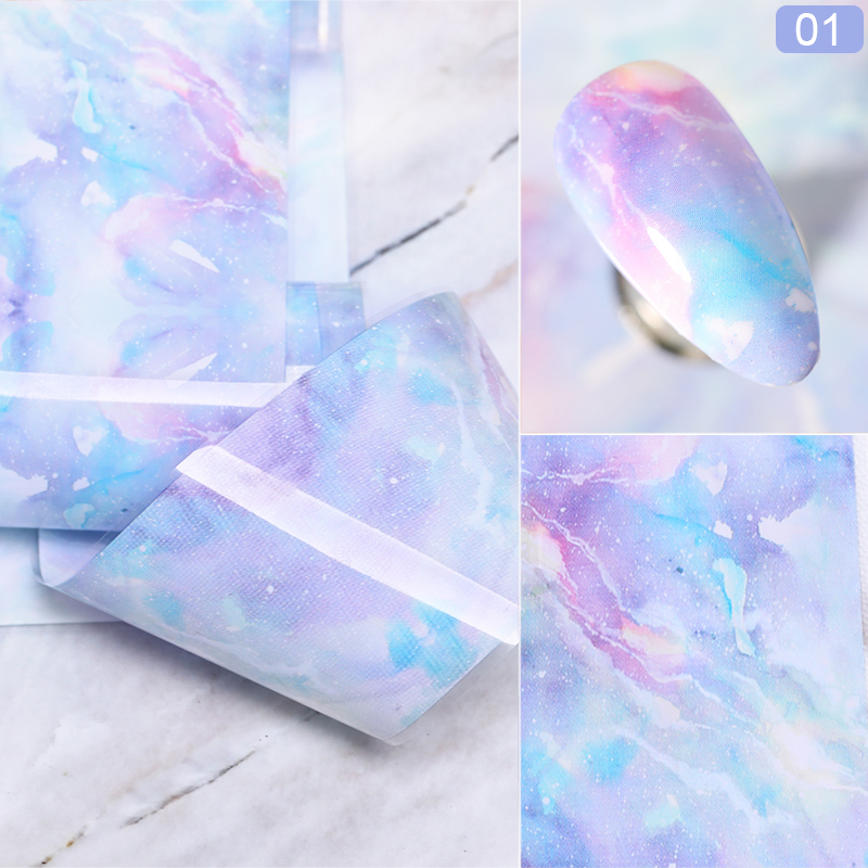 Nail Foils Marble Pattern Nail Sticker Flower Nail Art Transfer Sticker Decals DIY Tips Sticker Decoration Nails Accessories