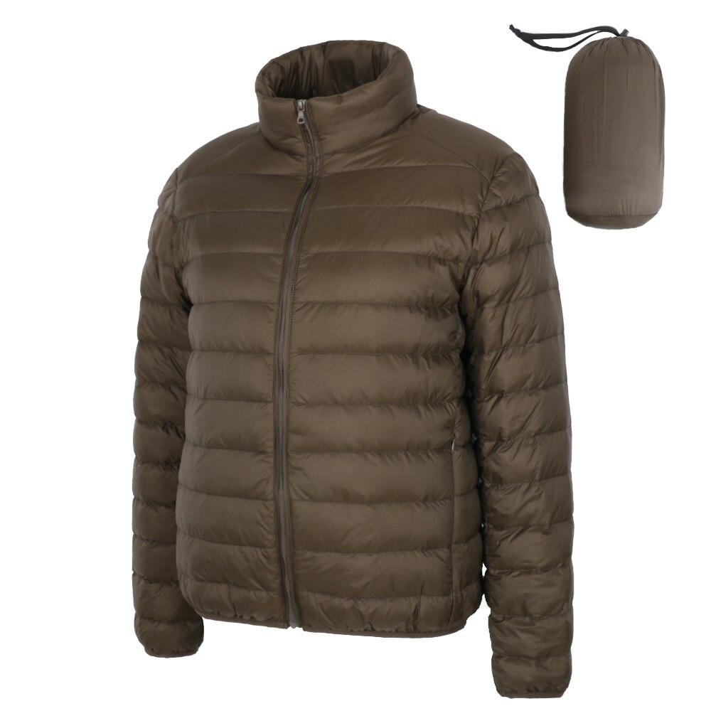 Matt Fabric Winter Men's Down Jacket Ultra Light Down Jacket Men Windbreaker Feather Jacket Man Lightweight Portable Warm Coat