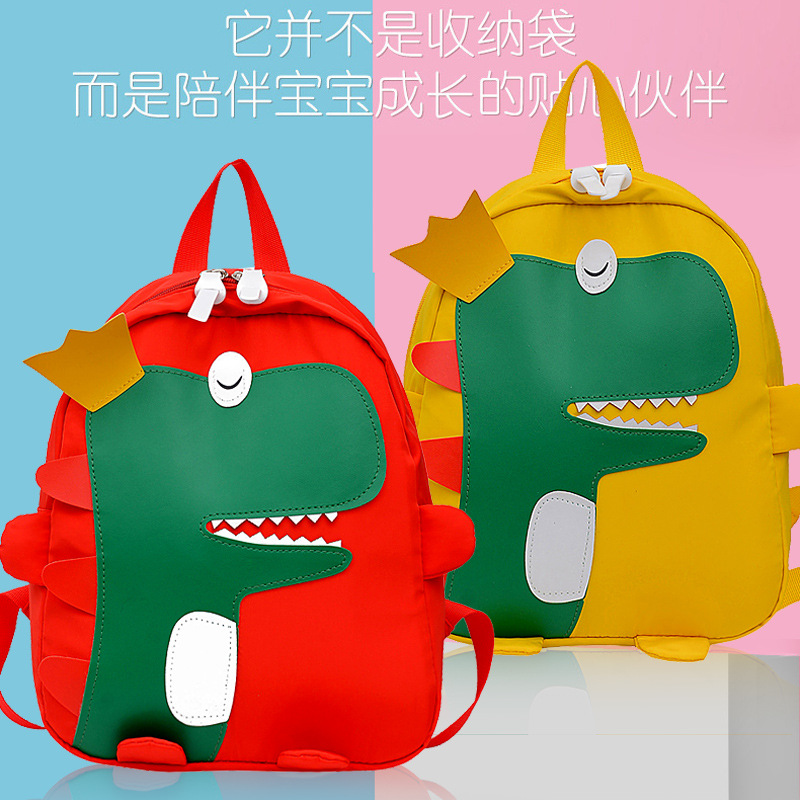 CHILDREN'S School Bags 2019 New Style Korean-style Cool Little Dinosaur Large Size Backpack Cute Kindergarten Early Childhood Ba
