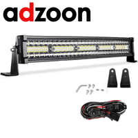 ADZOON LED Light Bar IP67 22inch 480W combo beam car light for 12v 24v Boat Car Tractor Truck 4x4 SUV