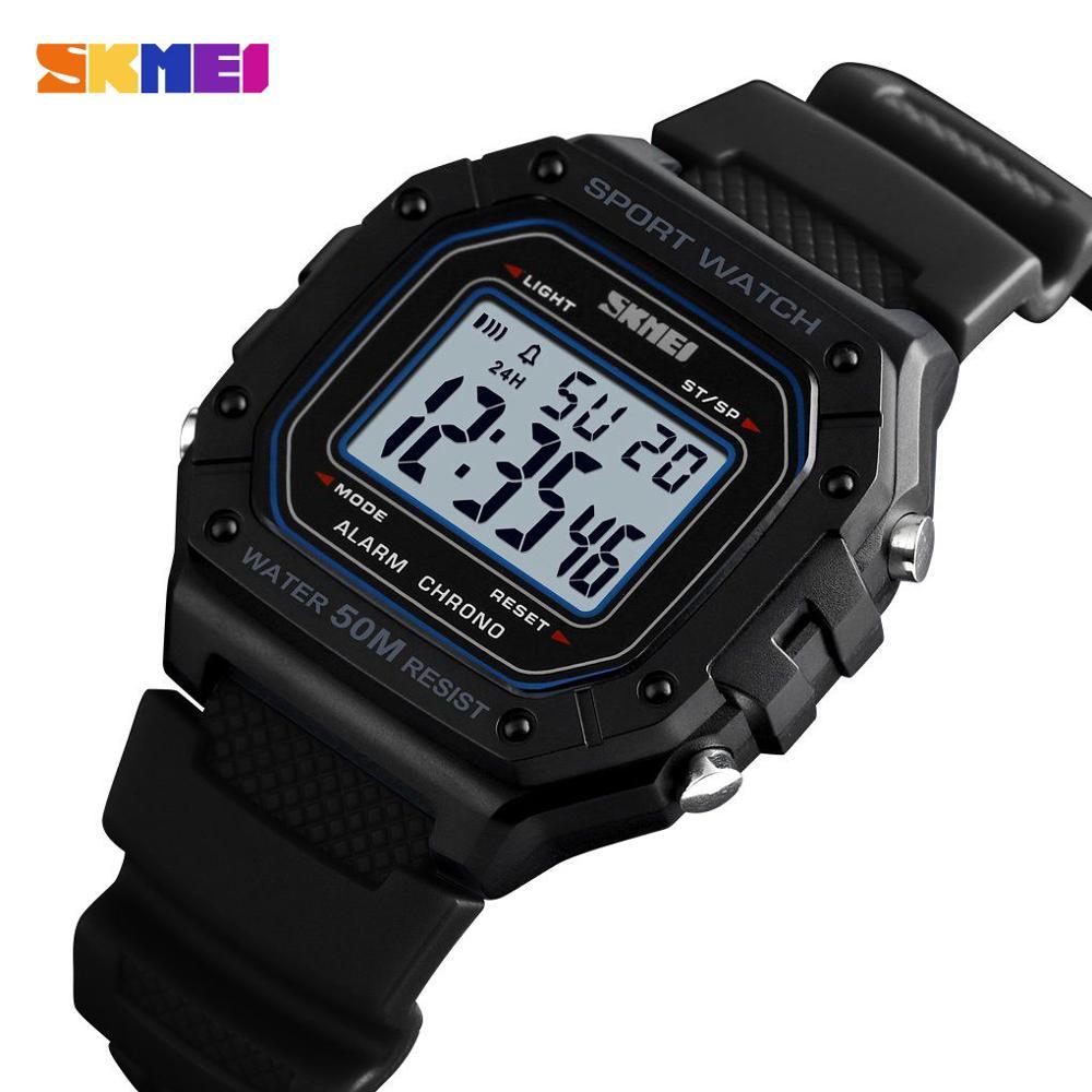 SKMEI Swim Outdoor Sport Watch Men Digital Watches 5Bar Waterproof Alarm Clock Fashion Military Men Digital Watch Diving Hour