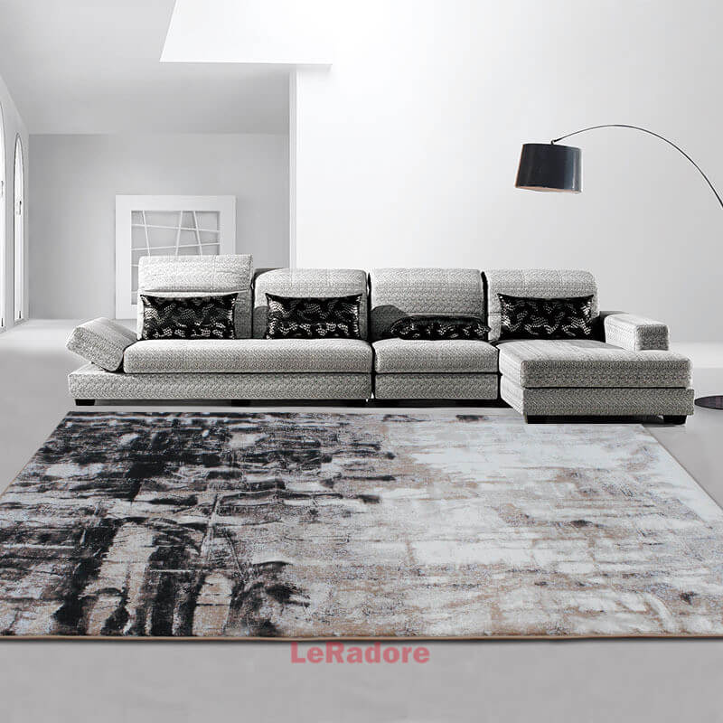 Les petits tapis mous pour le Polyester de plancher de bois franc donnent sur les tapis de salon d'hôtel les tampons géométriques antidérapants de décor disponibles dans beaucoup de tailles