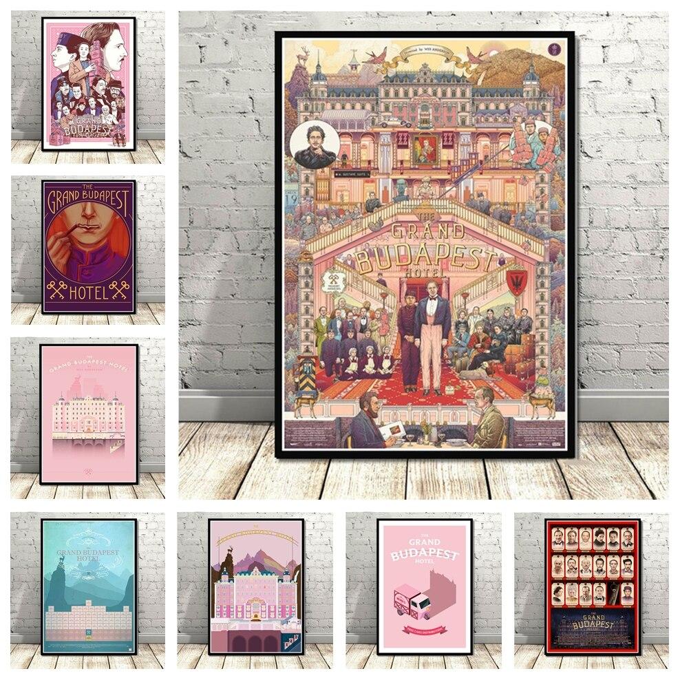 Картина из классического фильма «Большой Будапешт», художественный Декор для спальни, домашний Настенный декор, плакат для гостиной, качес...