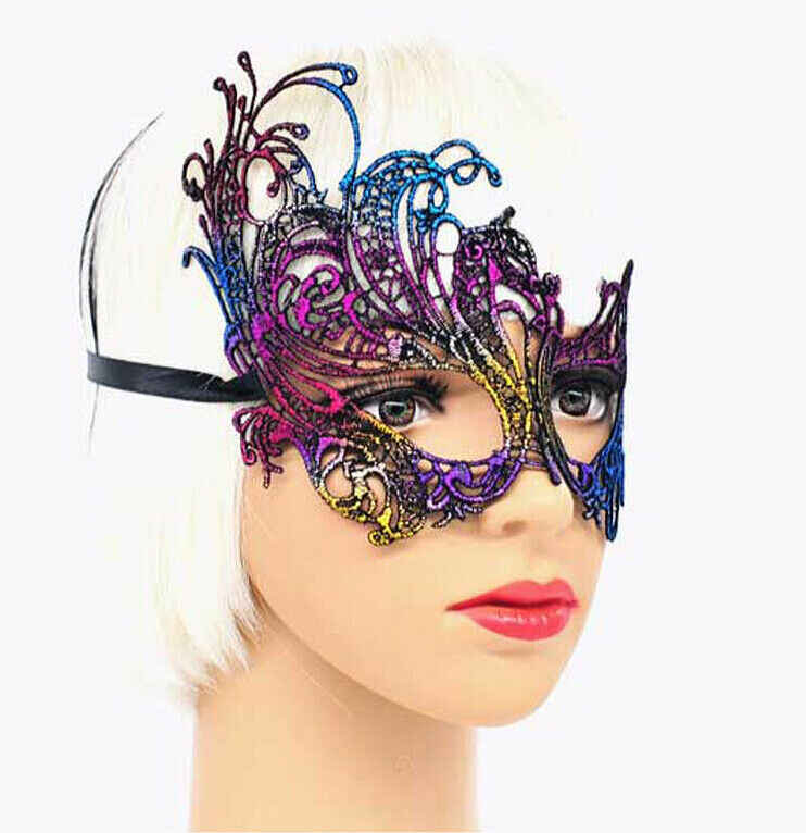 ฮาโลวีนชุดเครื่องแต่งกายเซ็กซี่ Masque Gold Eye Mask สำหรับปาร์ตี้หน้ากาก Venetian Carnival Mask Masquerade Mardi Gras มาสก์ลูกไม้ Ball