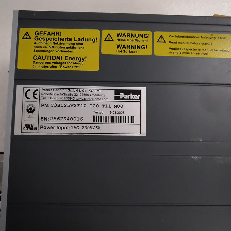 パーカー compax3 C3S025V2F10 I20 T11 M00 (品質保証と価格は交渉である)