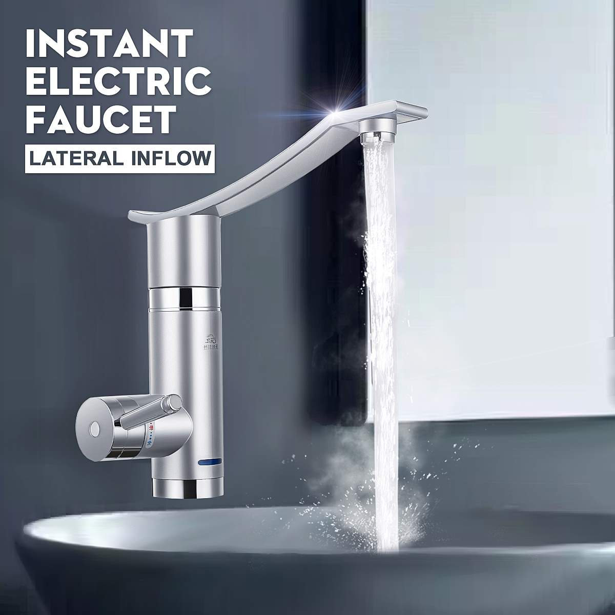 Electric Kitchen Water Heater Tap Instant Hot Water Faucet Heater Cold Heating Faucet Instantaneous Water Heater Tap 3000W 220V