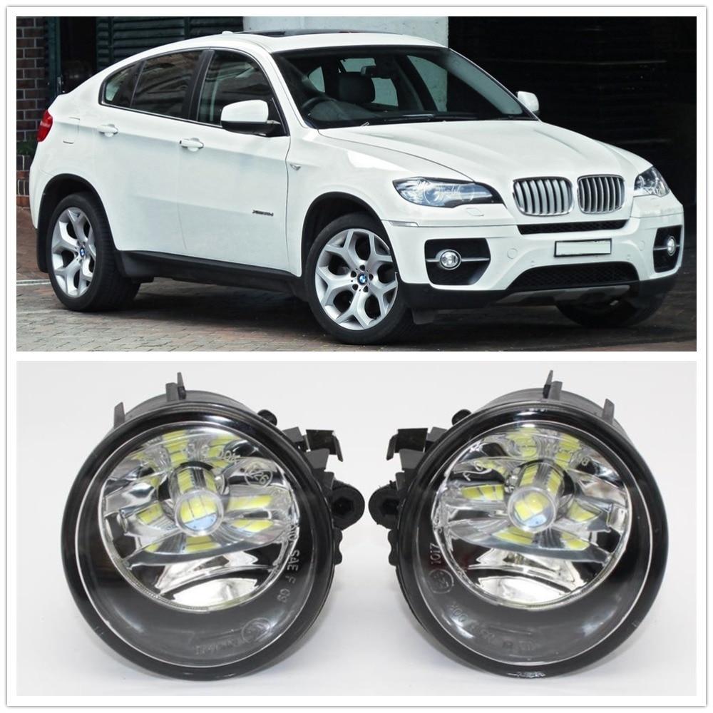 Светодиодный светильник для автомобиля для BMW X6 E71 E72 2012 2013 2014 2015 автомобильный Стайлинг передний светодиодный противотуманный фонарь проти...